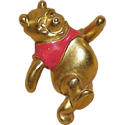 REDUCED Vintage DISNEY Pooh Bear Enamel Brooch