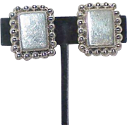 Vintage Mexican Taxco Sterling Clip Earrings