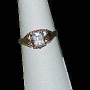 SOLD Vintage 10k Gold Aquamarine Ring