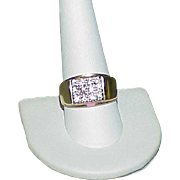 Vintage 14k Gents Diamond Ring