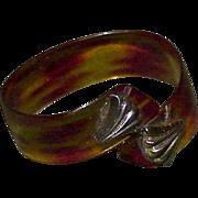 Vintage Lucite Tortoise Shell Cuff Bracelet