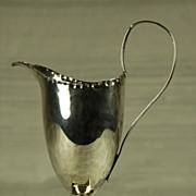 RARE! C. 1783  Helmet Shaped  Silver Creamer