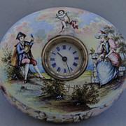 Circa 1800 Porcelain Jewelled Timepiece Casket, Vienna