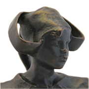 "Ruth Anna Maria Miles, Bronze ""Bust Of a Young Girl """