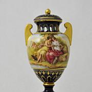 19th Century Porcelain Polychrome Enamel Mounted Urn
