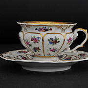 KPM Meissen Style Cabinet Cup and Saucer