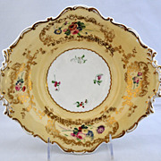 Beautiful circa 1835 Copeland Barret Spodes Porcelain Footed Serving Dish