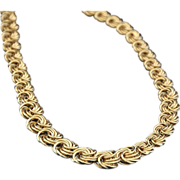 SALE Italian Vintage  18K  Gold  Byzantine Necklace