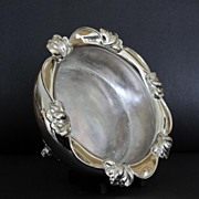 19th Century  Silver Plate  Repousse Sweetheart or Rose Bowl