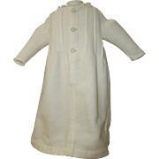 White cotton pique robe for bebe