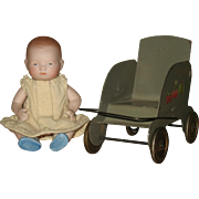 German all bisque Bye-lo baby 5 1/2 inches