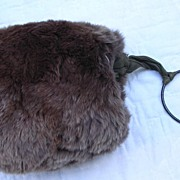 Doll Sized Victorian Fur Skating Muff