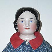 "23"" Kister Covered Wagon China Head Doll"