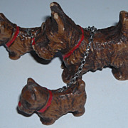Composition Scottie Dog Set