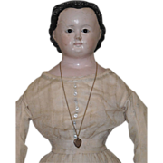 "32"" Glass Eyed Papier Mache Doll"