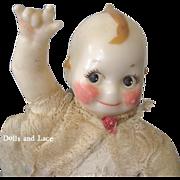 Adorable Vintage Wax Sorenson Wax Kewpie Doll circa 1950s