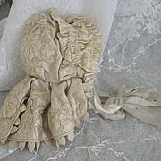 Lavish 19th Century Antique Doll Bonnet