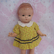 Patsy Jr Doll by Effanbee Composition with Many Homemade Dresses