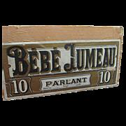Authentic Antique Bebe Jumeau Box
