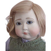 SALE Michael and Lynne Roche Collectible Doll Florence Porcelain Head and Hands Wooden Body