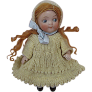 """Sweet Antique 5"""" Jointed All Bisque Doll Kestner 189 Googly"""