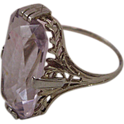SALE PENDING 6 Carat Rose de France Amethyst Ring