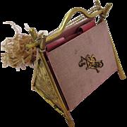 SALE PENDING Viennese 19th Century Dance Card Silk