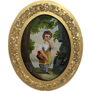 French Reverse Glass Painting French 1830s