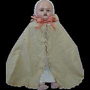 Antique Rare Wax Motschmann Taufling Doll Circa 1850s