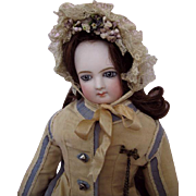Rare and Exquisite  So Called Wrap Around Eyes Jumeau French Fashion Early with Lovely Bisque