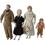 German Dollhouse Family All Original Circa 1930s