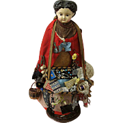 Fine Example of Peddler Doll England or USA Circa 1870s-1880s