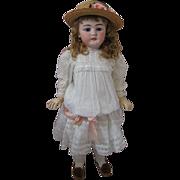 "Gorgeous and Impressive 33"" Tall Antique Simon and Halbig Doll 1079 Lavishly Dressed Orig"