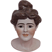 All Bisque Head Mannequin Bust Store Display Made by Simon and Halbig