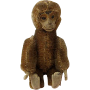 Wonderful Vintage Mohair Schuco Perfume Bottle Monkey
