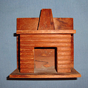 Wood Dollhouse Doll Vintage Miniature Fireplace