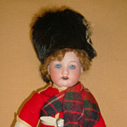 "Factory Original 8.5"" German Bisque Doll on Ball Jointed Body Scott"