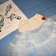 SOLD 1950s Doll Slip with Original Card Jeanstyles Lingerie Crinoline