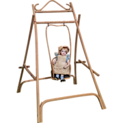 SOLD Miniature Vintage Doll Swing
