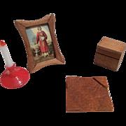 Doll Desk Accessories for Mignonette or Dollhouse Miniature