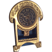 Miniature Dollhouse Doll Antique Metal Mantle Clock