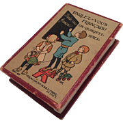 REDUCED Antique German Flash Card Set Game in Box Parlez-Vous Français?  Child or Doll Learn