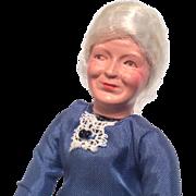 Grandma Vintage Metal Feet Dollhouse Doll Old Woman