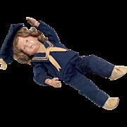 Schoenhut Wood Boy Sailor Doll Fully Jointed