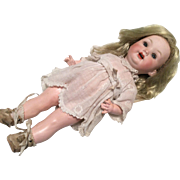 Adorable Bisque Toddler Character Girl Doll Antique PM German