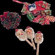Vintage Miniature Dollhouse Doll Christmas Santa Claus Wreath
