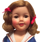 Original Ideal Shirley Temple  Doll Tagged Sailor Dress