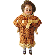 """Fabulous 4 l/2"""" German Marked All-Bisque Child Doll, 1910"""