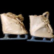 """1940/1950's Ice Skates for 16"""" Doll"""