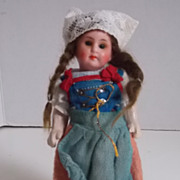 "SALE 5"" Original Painted Bisque Head Regional Doll on 5 Pc. Body"